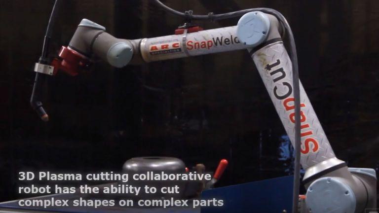 ARC Specialties' SnapCut Plasma Cutting Collaborative Robot
