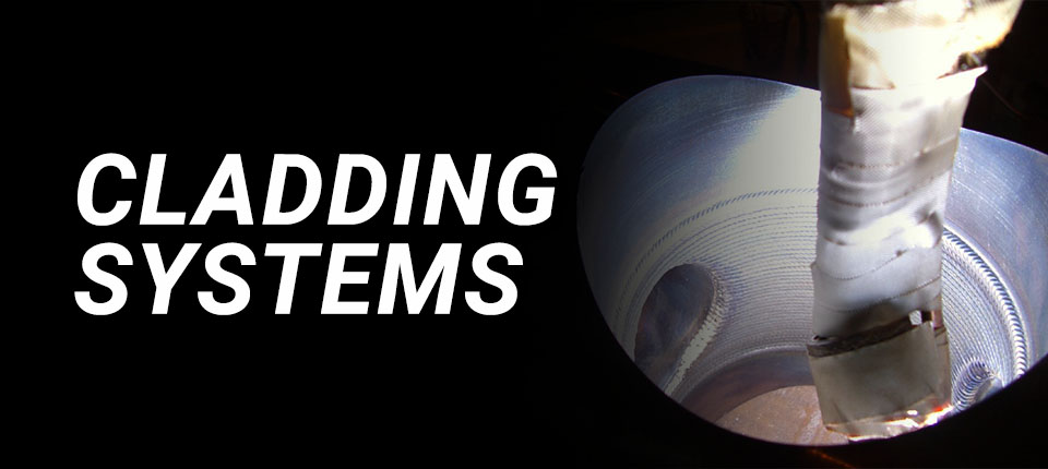 torch laying cladding systems