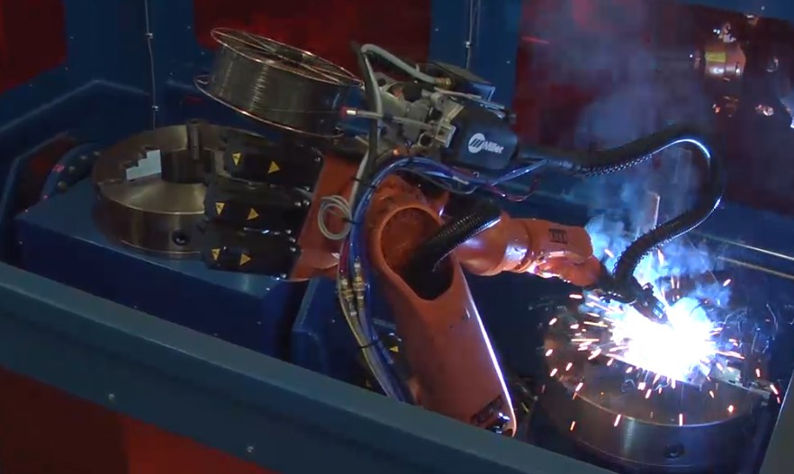 two positioner robotic welding system