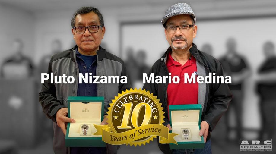 pluto and mario ten years rolex employee appreciation gift