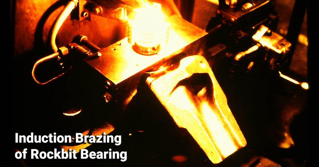 induction brazing of rock bit bearing